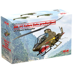 ICM 32061 Bell AH-1G Cobra Late Production 1:32 Plastic Model Helicopter Kit