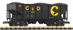 Piko Chessie C&O Rib Sided Hopper w/Coal Load PK38924 G Gauge