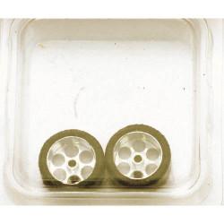 "NSR 3/32 Rear RTR 19 x 10mm Trued Rubber Tyres 17"" Wheels (2) NSR9009"
