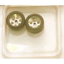 "NSR 3/32 Rear RTR 20 x 10mm Trued Rubber Tyres 16"" Wheels (2) NSR9006"