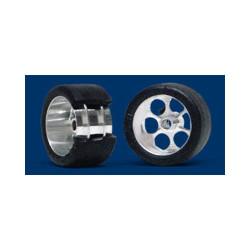 "NSR 3/32 Rear RTR 19 x 12mm Trued Rubber Tyres 16"" Wheels (2) NSR9007"