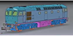 Dapol Class 33 042 BR Railfreight Construction N Gauge DA2D-001-007