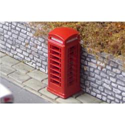 Gaugemaster GM461 Red Telephone Box - Pre-made & Pre-coloured OO Gauge Scenics