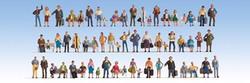 Noch People (60) Mega Economy Figure Set N Gauge 37070