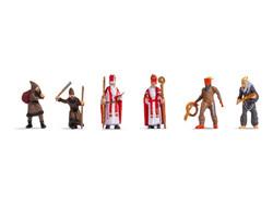 Noch Santa Claus & Knecht Ruprecht (6) Figure Set N15929 HO Gauge