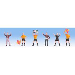 NOCH Football Match Officials (4) & Coaches (2) FigureSet HO Gauge Scenics 15989