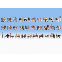 NOCH Sitting People (60) Mega Economy Figure Set HO Gauge Scenics 18402