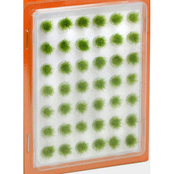 GAUGEMASTER Grass Tufts Mini Set - Green 6mm (42) OO Gauge Scenics GM162