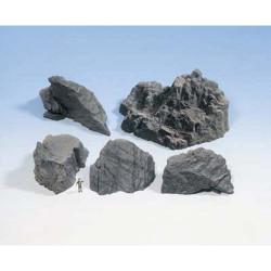 NOCH Granite Rocks Hard Foam (5) HO Gauge Scenics 58451
