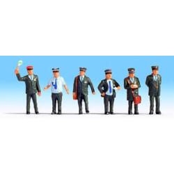NOCH Swiss Railway Staff (6) Figure Set HO Gauge Scenics 15266