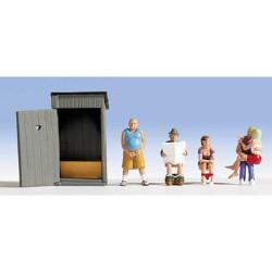 NOCH Toilet Stories (5) Figure Set HO Gauge Scenics 15560