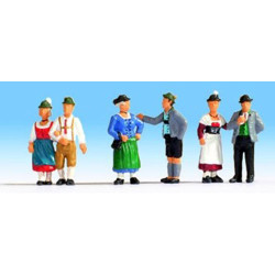 NOCH Traditional German Dress (6) Figure Set HO Gauge Scenics 15578