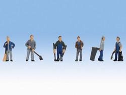 Noch Caretakers (6) Figure Set N Gauge 36116