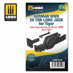 Ammo by MIG 1:35 German WWII 20 Ton Long Jack For Tiger Tanks A.MIG-8119