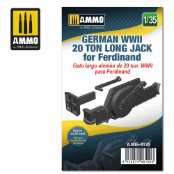 Ammo by MIG 1:35 German WWII 20 Ton Long Jack For Ferdinand Tank Destroyer A.MIG-8120