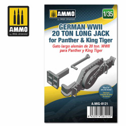 Ammo by MIG 1:35 German WWII 20 Ton Long Jack For Panther & King Tiger A.MIG-8121