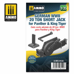 Ammo by MIG 1:35 German WWII 20 Ton Short Jack For Panther & King Tiger A.MIG-8122