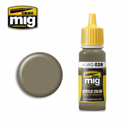 Ammo by MIG Ral7050 F7 German Grey Beige Acrylic waterbased colour17ml A.MIG-028