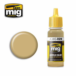 Ammo by MIG New Iraqui Army Sand Acrylic waterbased colour17ml A.MIG-029