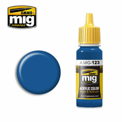 Ammo by MIG Marine Blue Acrylic waterbased colour17ml A.MIG-123