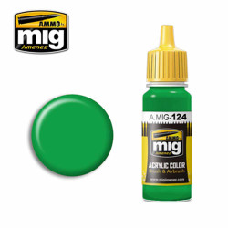 Ammo by MIG Lime Green Acrylic waterbased colour17ml A.MIG-124