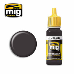 Ammo by MIG Rubber & Tires Acrylic waterbased colour17ml A.MIG-033