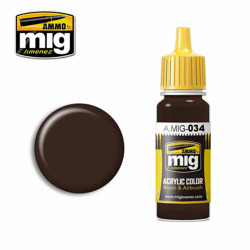 Ammo by MIG Rust Tracks Acrylic waterbased colour17ml A.MIG-034