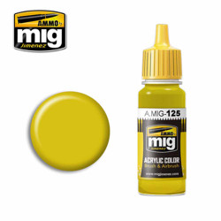 Ammo by MIG Gold Yellow (RLM 04 Gelb) Acrylic waterbased colour17ml A.MIG-125