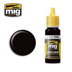 Ammo by MIG Dark Tracks Acrylic waterbased colour17ml A.MIG-035