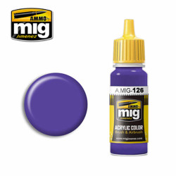 Ammo by MIG Violet Acrylic waterbased colour17ml A.MIG-126