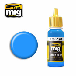 Ammo by MIG Cyan Acrylic waterbased colour17ml A.MIG-128