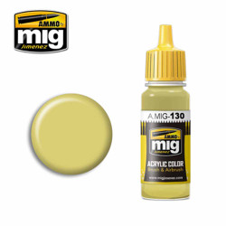 Ammo by MIG Faded Yellow Acrylic waterbased colour17ml A.MIG-130