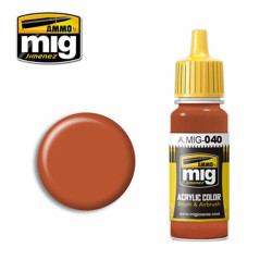 Ammo by MIG Medium Rust Acrylic waterbased colour17ml A.MIG-040