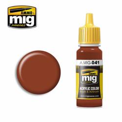 Ammo by MIG Dark Rust Acrylic waterbased colour17ml A.MIG-041