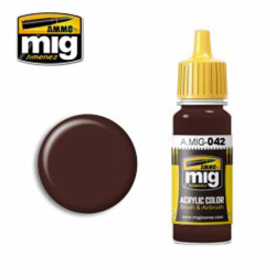 Ammo by MIG Old Rust Acrylic waterbased colour17ml A.MIG-042