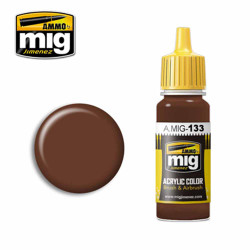 Ammo by MIG Red Leather Acrylic waterbased colour17ml A.MIG-133