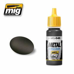 Ammo by MIG Gun Metal Acrylic waterbased colour17ml A.MIG-045