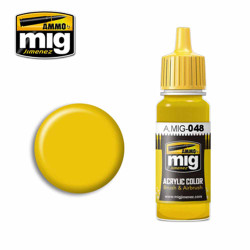 Ammo by MIG Yellow Acrylic waterbased colour17ml A.MIG-048
