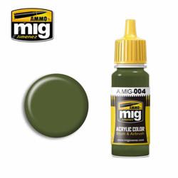 Ammo by MIG RAL 6011 B Resedagrün Acrylic waterbased colour17ml A.MIG-004
