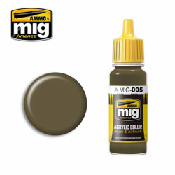 Ammo by MIG RAL 7008 Graugrün Acrylic waterbased colour17ml A.MIG-005