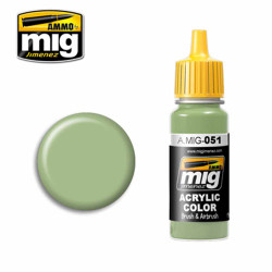 Ammo by MIG Light Green KHV-553M Acrylic waterbased colour17ml A.MIG-051