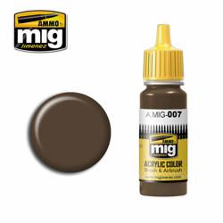 Ammo by MIG RAL 7017 Dunkelbraun Acrylic waterbased colour17ml A.MIG-007