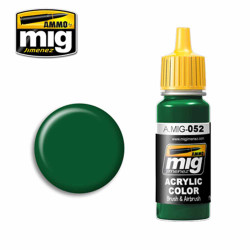 Ammo by MIG Deep Green Acrylic waterbased colour17ml A.MIG-052
