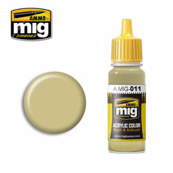 Ammo by MIG RAL 7028 Dunkelgelb Aus '44 DG I Acrylic waterbased colour17ml A.MIG-011