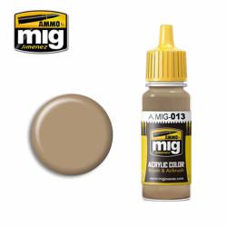 Ammo by MIG RAL 8000 Gelbbraun Acrylic waterbased colour17ml A.MIG-013