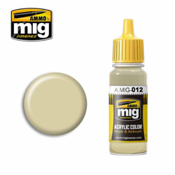Ammo by MIG RAL 7028 Dunkelgelb Aus '44 DG III Acrylic waterbased colour17ml A.MIG-012