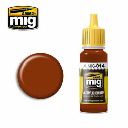 Ammo by MIG RAL 8012 Rotbraun Acrylic waterbased colour17ml A.MIG-014