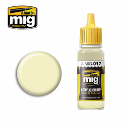 Ammo by MIG RAL 9001 Cremeweiss Acrylic waterbased colour17ml A.MIG-017