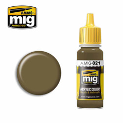Ammo by MIG 7K Russian Tan Acrylic waterbased colour17ml A.MIG-021