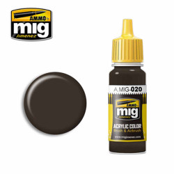 Ammo by MIG 6K Russian Brown Acrylic waterbased colour17ml A.MIG-020